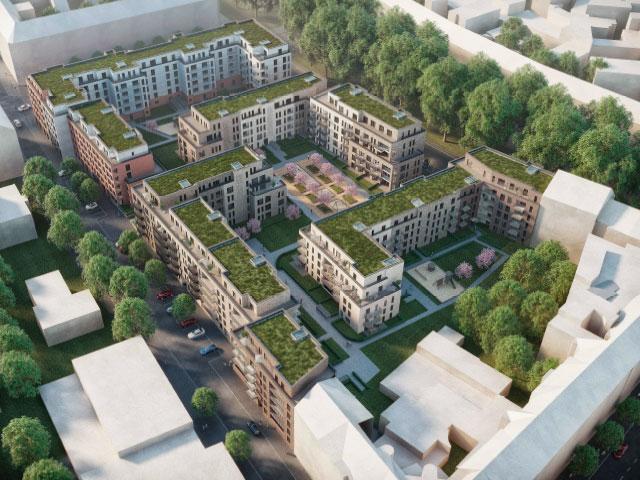 Karolinger Höfe 3.BA Neubau von 7 MFH mit 117 WE & Tiefgarage Düsseldorf